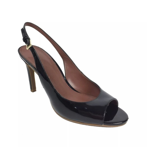 e388433ac7b Cole Haan Shoes - Cole Haan Black Patent Leather Slingback Heels